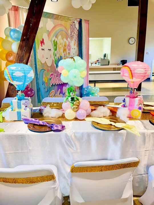Care Bear Baby Shower we did today Northside Upper Pavilion All balloon work done by Jayme Juci Jay Phillips from Lima O...