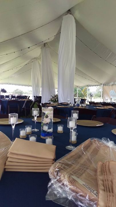 We are setting up the Ramcharran wedding for a 180 lucky guests under the big tent today! So excited that we get to be p...