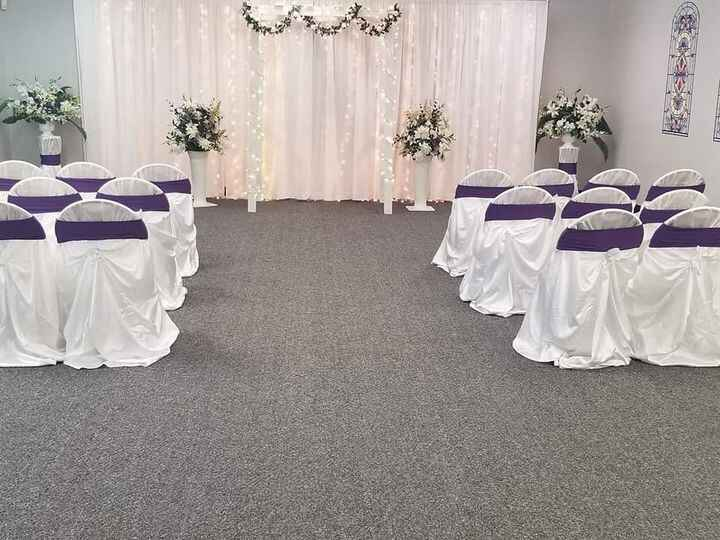 Micro-wedding with up to 40 guests, decorated chapel, Ordained Minister, music $280 With 3 hour reception $580 Www.thela...