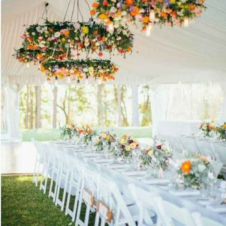 The best part of a tented wedding is the flexibility to design the space exactly how you want it! How beautiful is this ...
