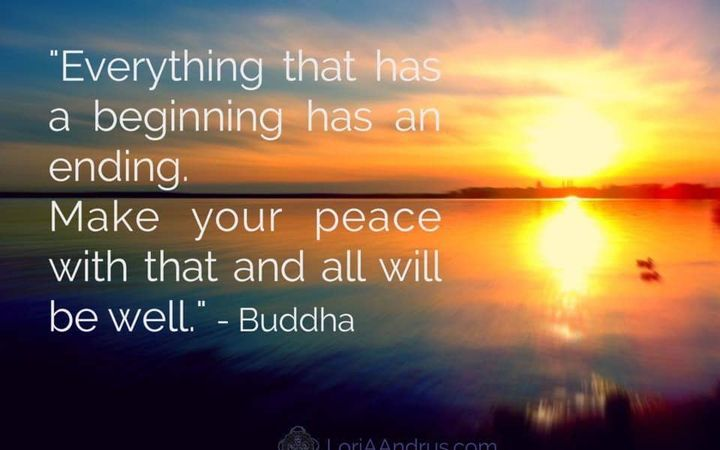 This is living......Making peace with the endings ☮️ We experience beginnings and endings all day long. Every minute has...