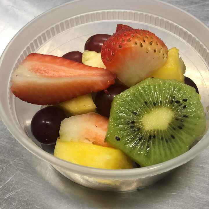 Fruit cup  covid style! We've got this !