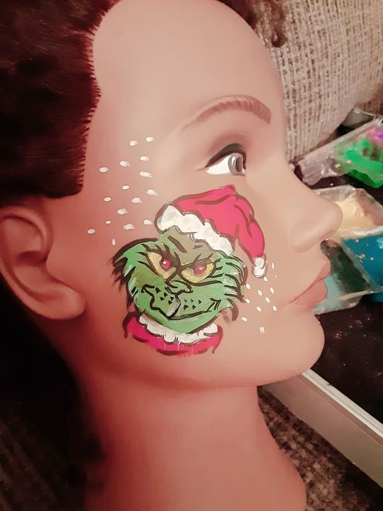 You're a mean one Mr Grinch... #facepaint