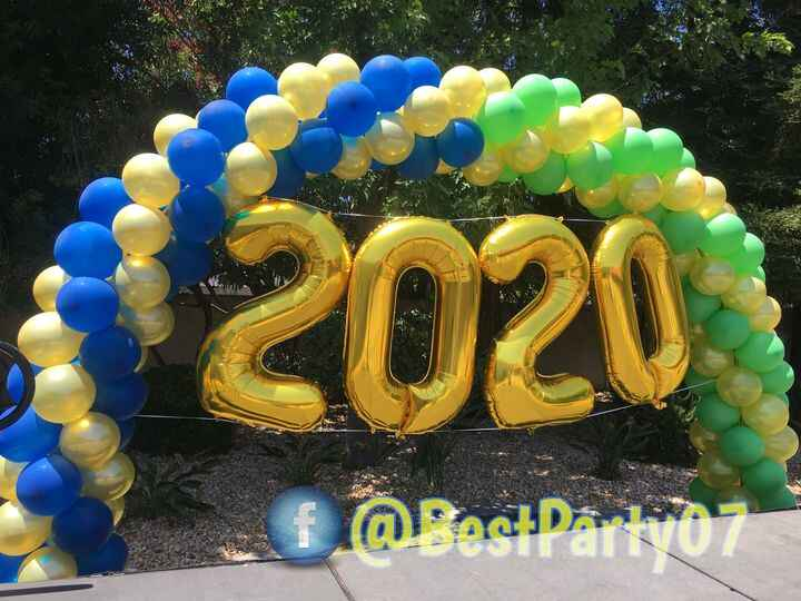 One of our graduation arch balloons, we can do any design just let us know what do you have in mind, Free consultation o...