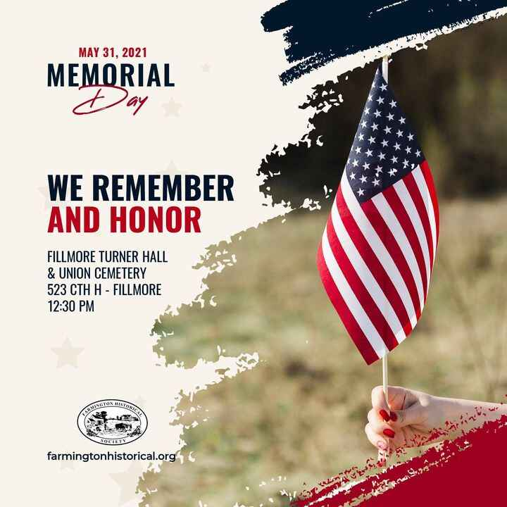 Don't forget to come and join us at the hall for Memorial Day Program run by the Washington County Historical Society pr...