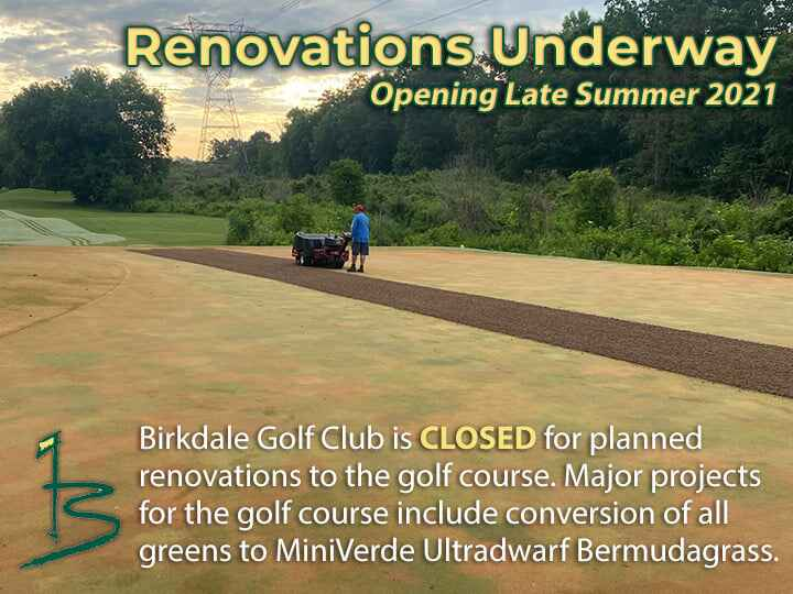 Renovations are underway at Birkdale Golf Club! Major projects for the golf course include conversion of all greens to M...