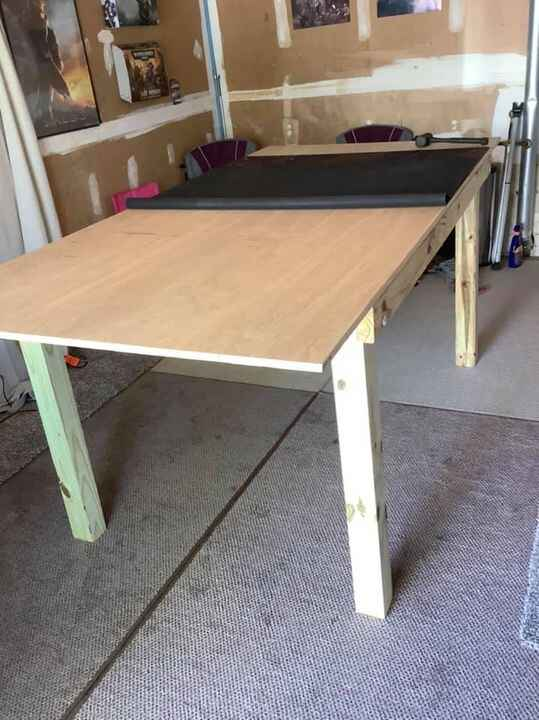 My son-n-law is in the Army and stationed at Ft. Campbell, Ky.  He asked me to help him build a game table, 8 ft long by...
